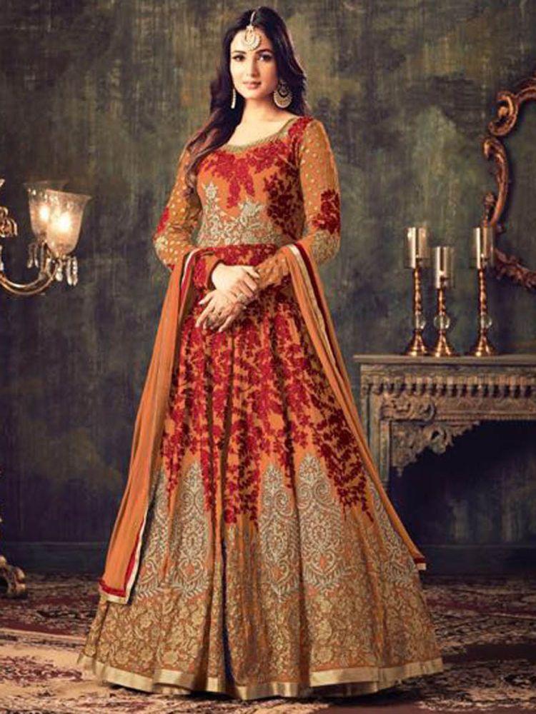 19a42be6035 Designer Indian New Collection Bridal Parti wear New Design Anarkali Salwar  Suit  Handmade  SalwarKameez