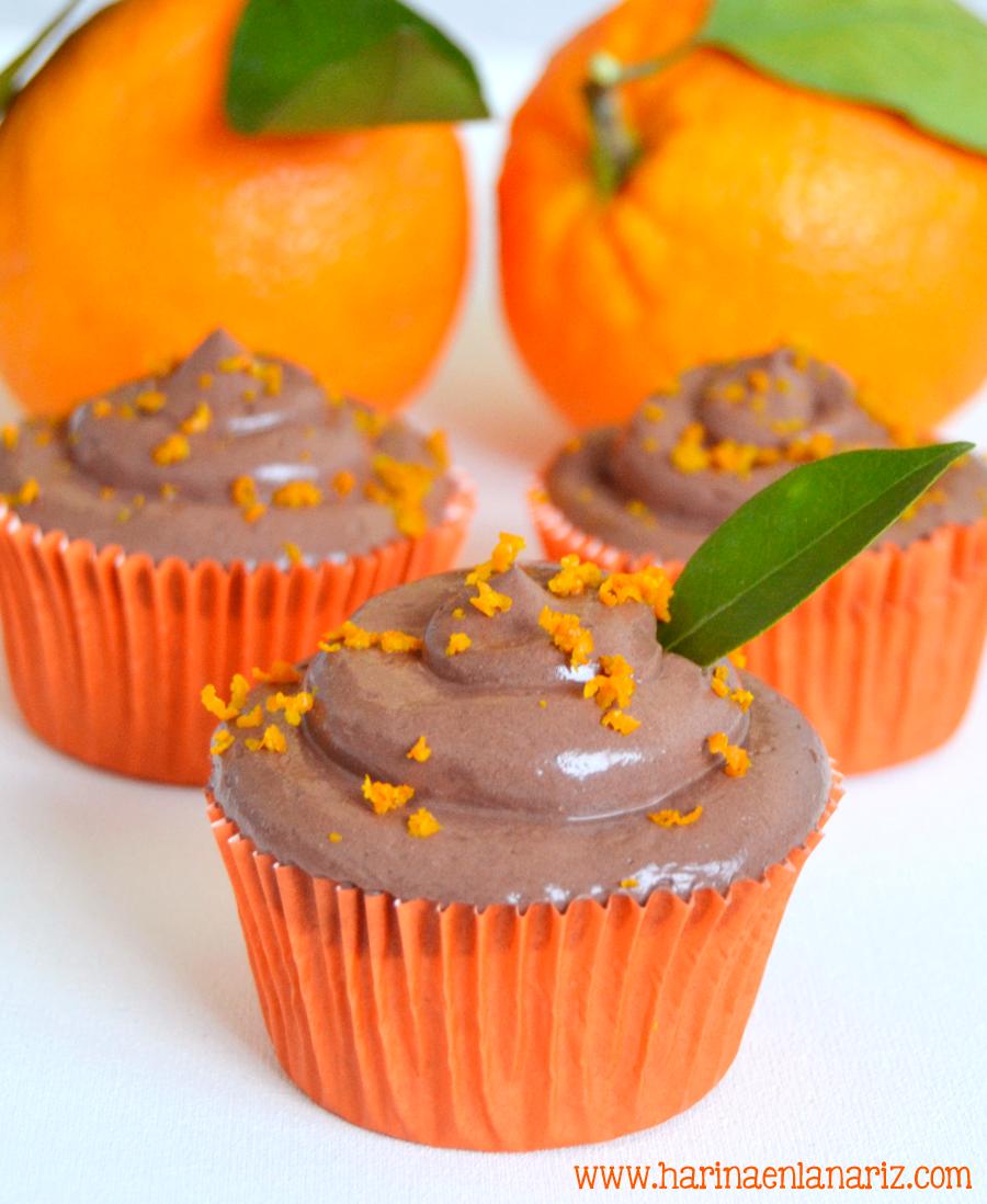 Cupcakes de chocolate y naranja: La mejor combinación de chocolate que existe!