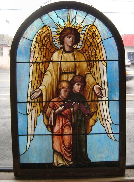 Angel Window Unsigned La Farge Antique Stained Glass