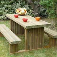Tavolo Di Legno Per Esterno.Tavolo Picnic Solido 180 X 159 Cm Spessore 90 Mm Di Onlywood