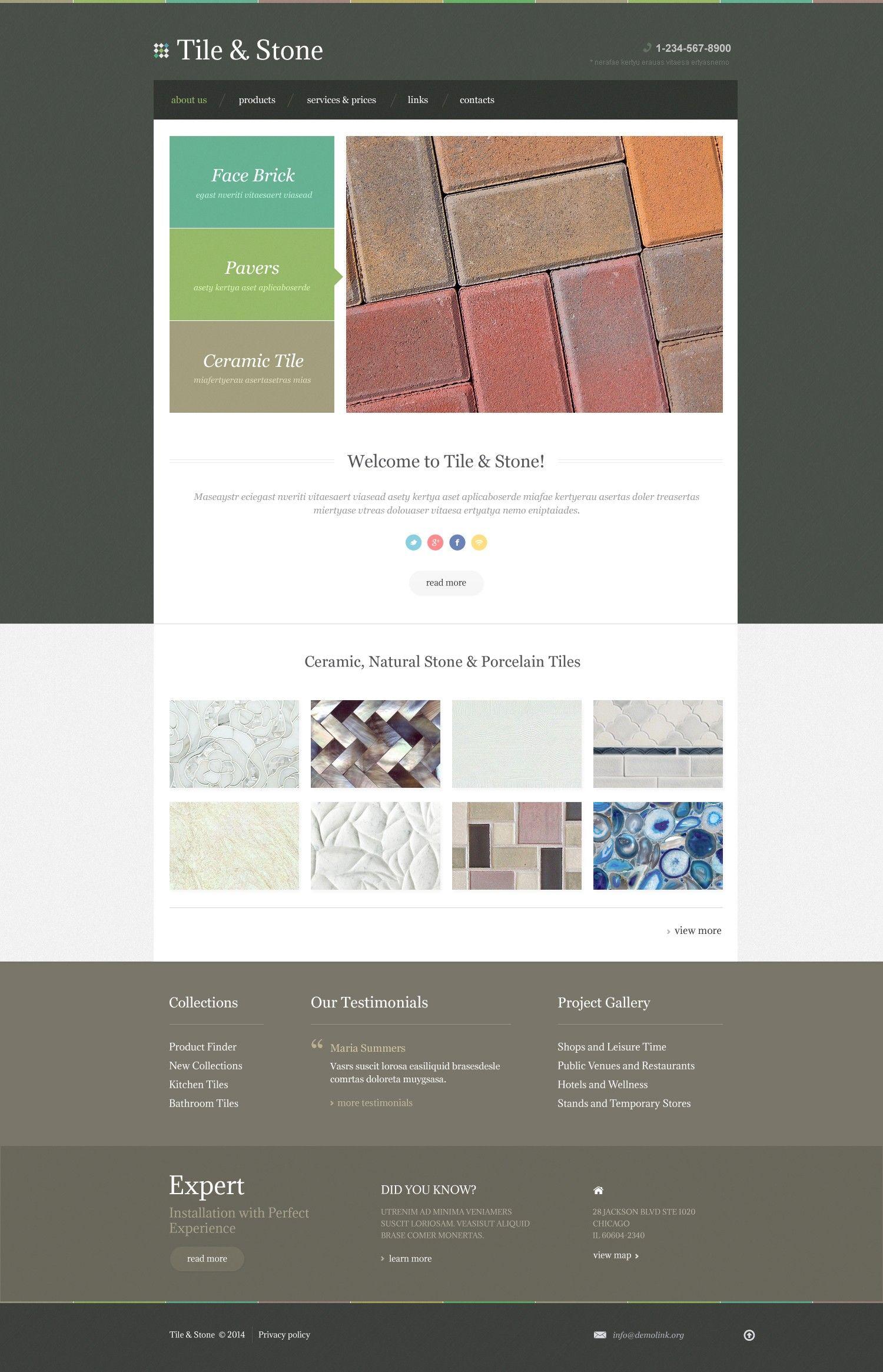 Tile Stone\' #webdesign #Responsive Template http://www.zign.nl ...