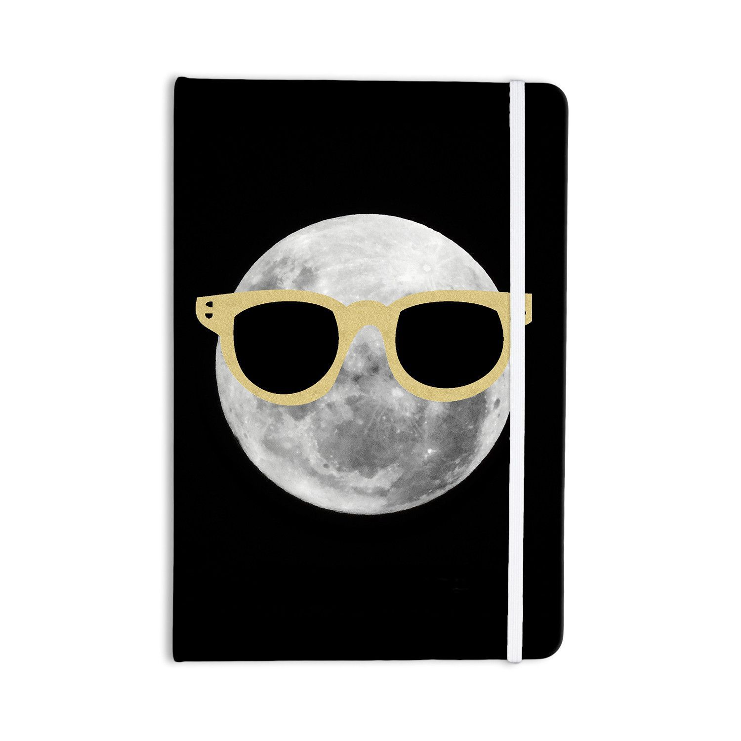 "Chelsea Victoria ""Mr. Moon"" Yellow Illustration Everything Notebook"