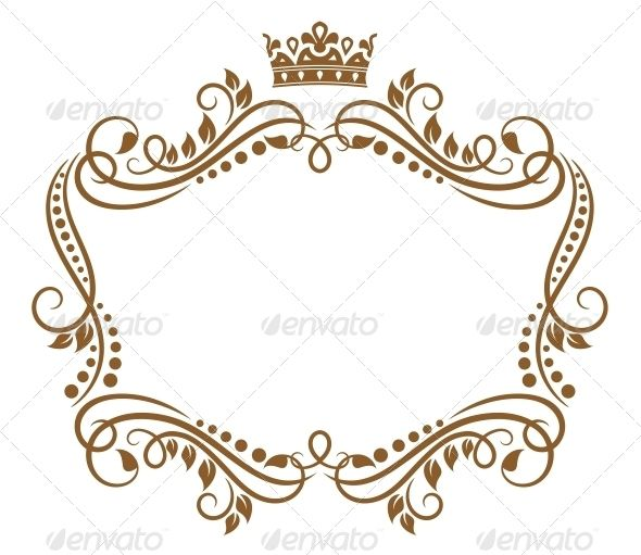 decorative labels template violet and crowns - Google Search ...