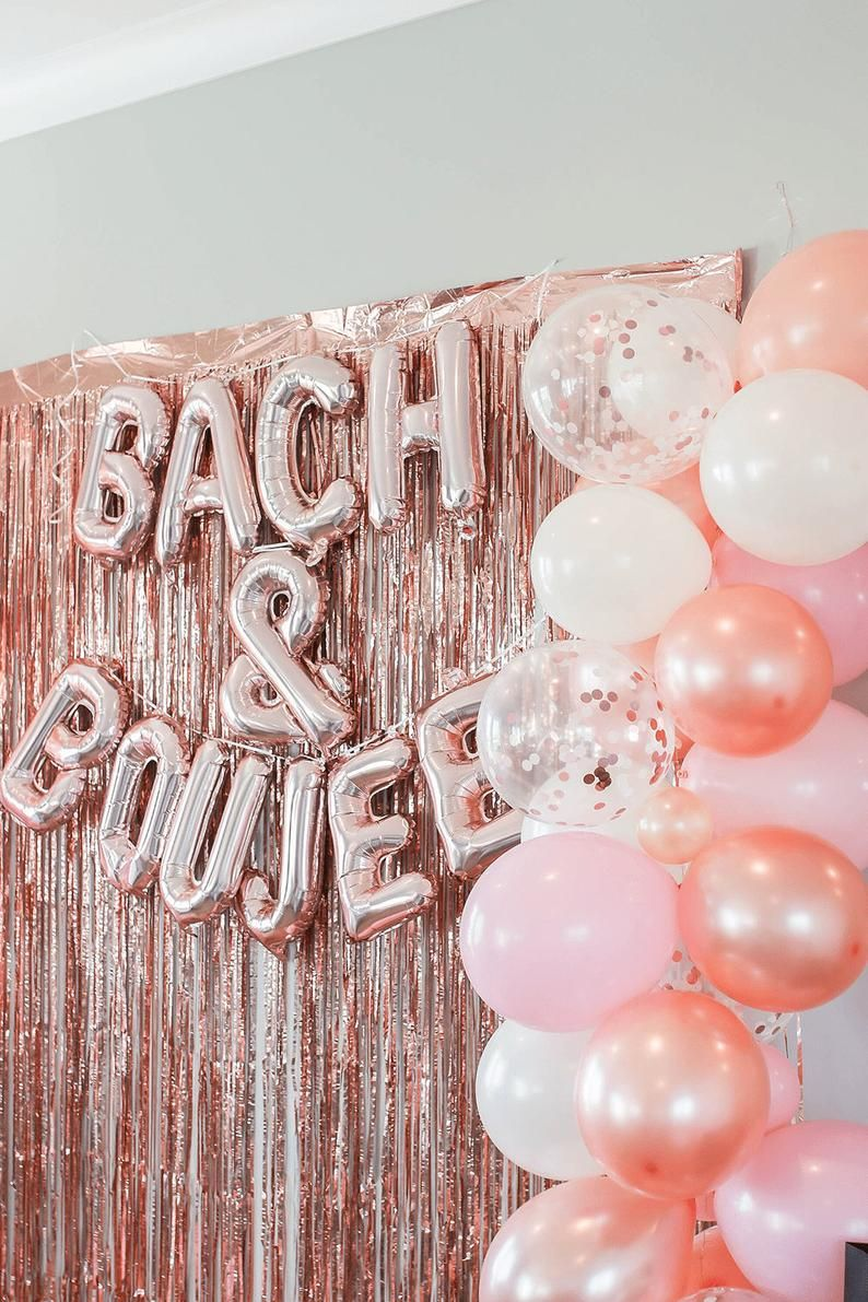 Bach and Boujee Balloon Garland Kit | Rose Gold Pink Peach Blush Balloon Arch | Bach and Boujee Bachelorette Party Decorations Latex Balloon