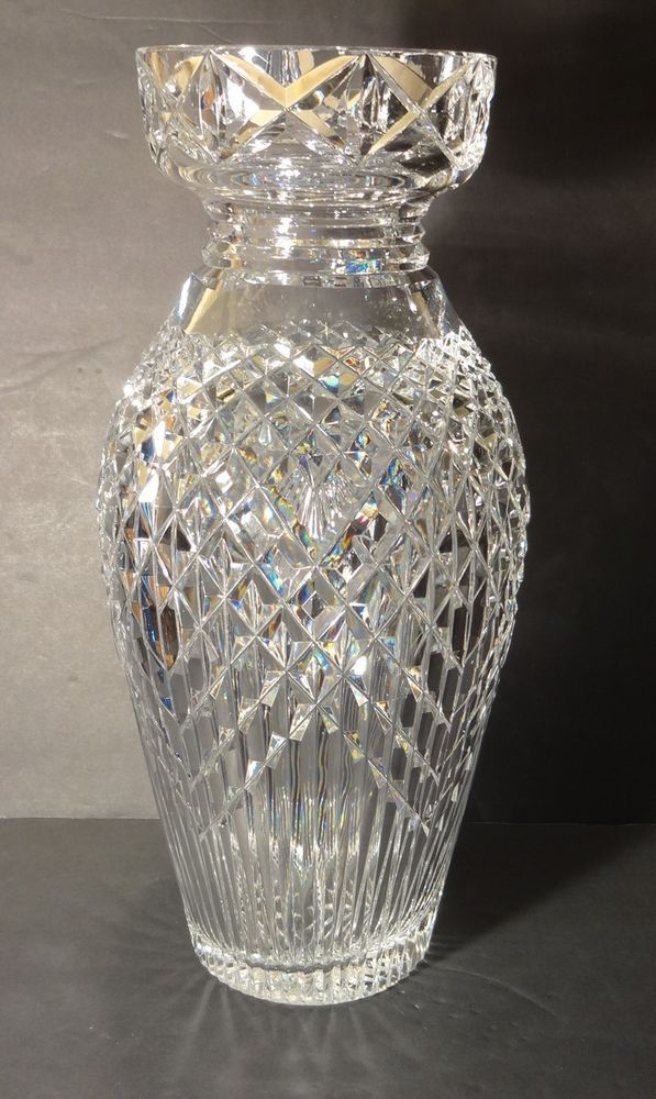 Rare Vintage Waterford Crystal Master Cutter Vase 14 Made In Ireland Ebay Waterford Crystal Crystals Waterford