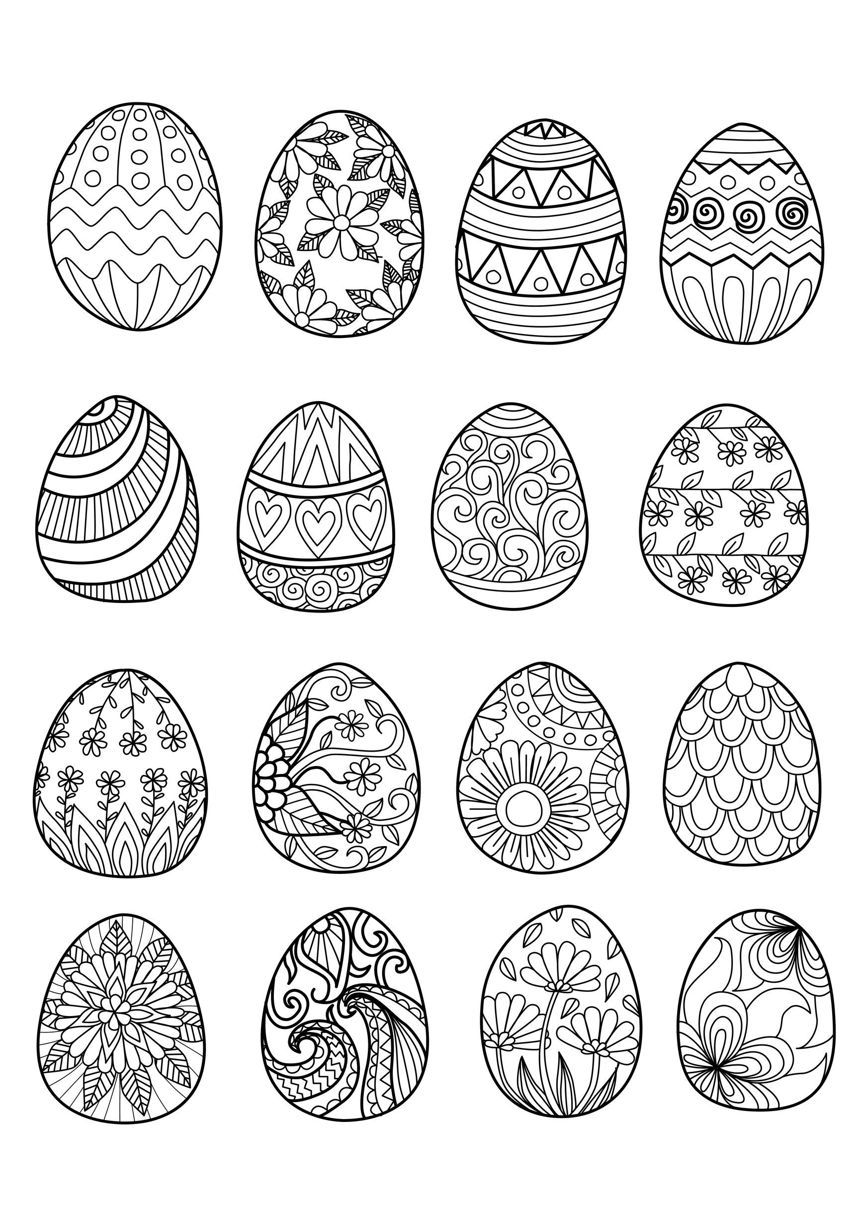 49153947 - easter eggs for coloring book, From the gallery : Events ...
