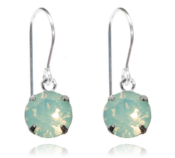 Light Green Opal Single Crystal Drop Earrings - $9.80