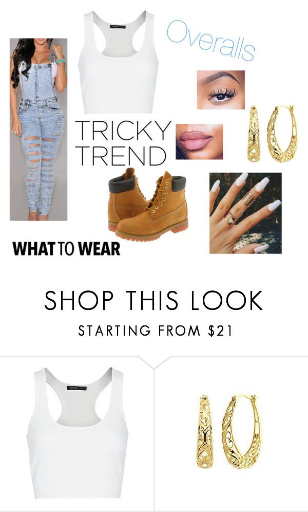 """""""Overalls"""" by candybounce12 ❤ liked on Polyvore featuring MANGO, Timberland, TrickyTrend and overalls"""