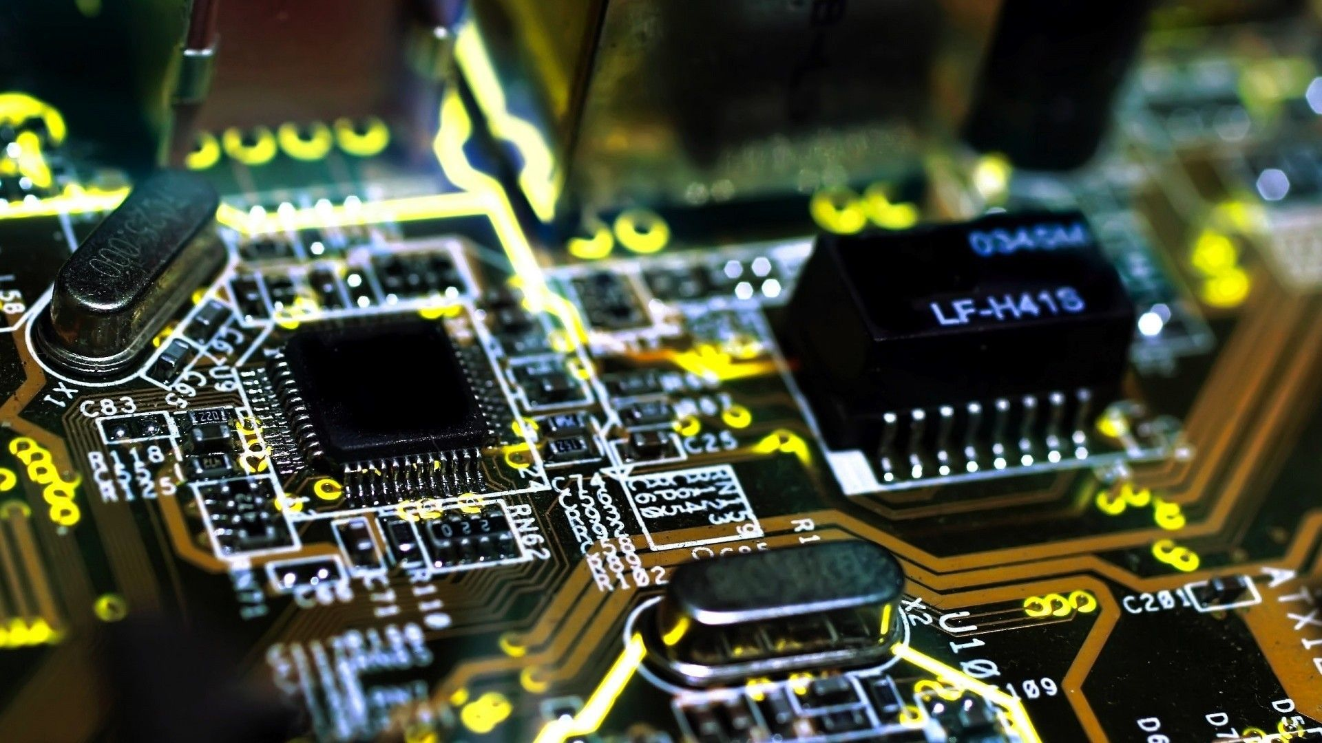 Chips Electronic Circuit Boards 1920x1080 Repair Board Royalty Free Stock Images Image Via Allwallpaperin