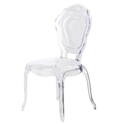 Funky clear perspex dining chair this is a fabulous french shaped design amazing in a contemporary room. Dimensions H 970mm x W 500mm x D 550mm *avai  sc 1 st  Pinterest & Funky clear perspex dining chair this is a fabulous french shaped ...
