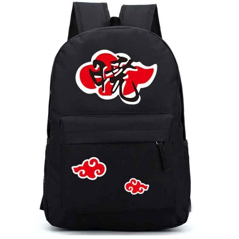 Anime naruto akatsuki cloud school backpack travel