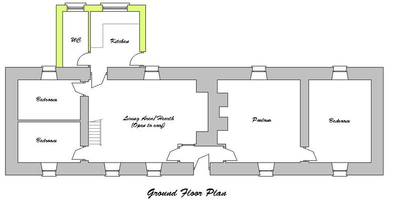 Linear Farm Cottage Cottageology Irish Cottages Culture Cottage Plan Farmhouse Cottage Plans Cottage Floor Plans