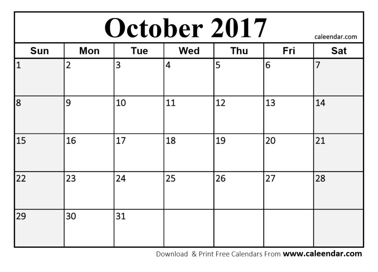 October  Calendar Printable HttpSocialebuzzComOctober