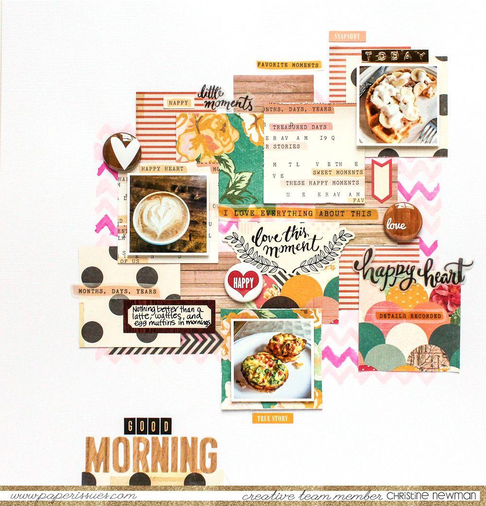 How to scrapbook good -  Papercraft Scrapbook Layout Good Morning Scrapbook Com Scrapbook Your Breakfast