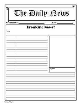 Newspaper Template Newspaper Template Newspaper Article Template Paper Template Free Printable
