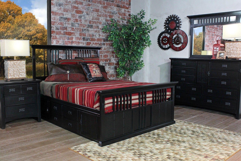 San Mateo Black Bedroom   Bedroom   Mor Furniture for Less