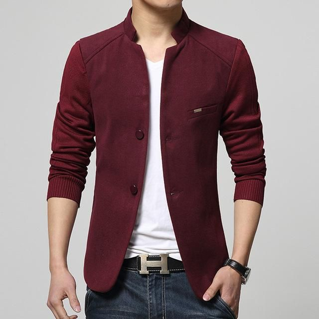 b3b50fe143f2 Gender: Men Item Type: Blazers Sleeve Length(cm): Full Style: Casual  Material: Cotton,Polyester Closure Type: Single Breasted Model Number: 65  Clothing ...