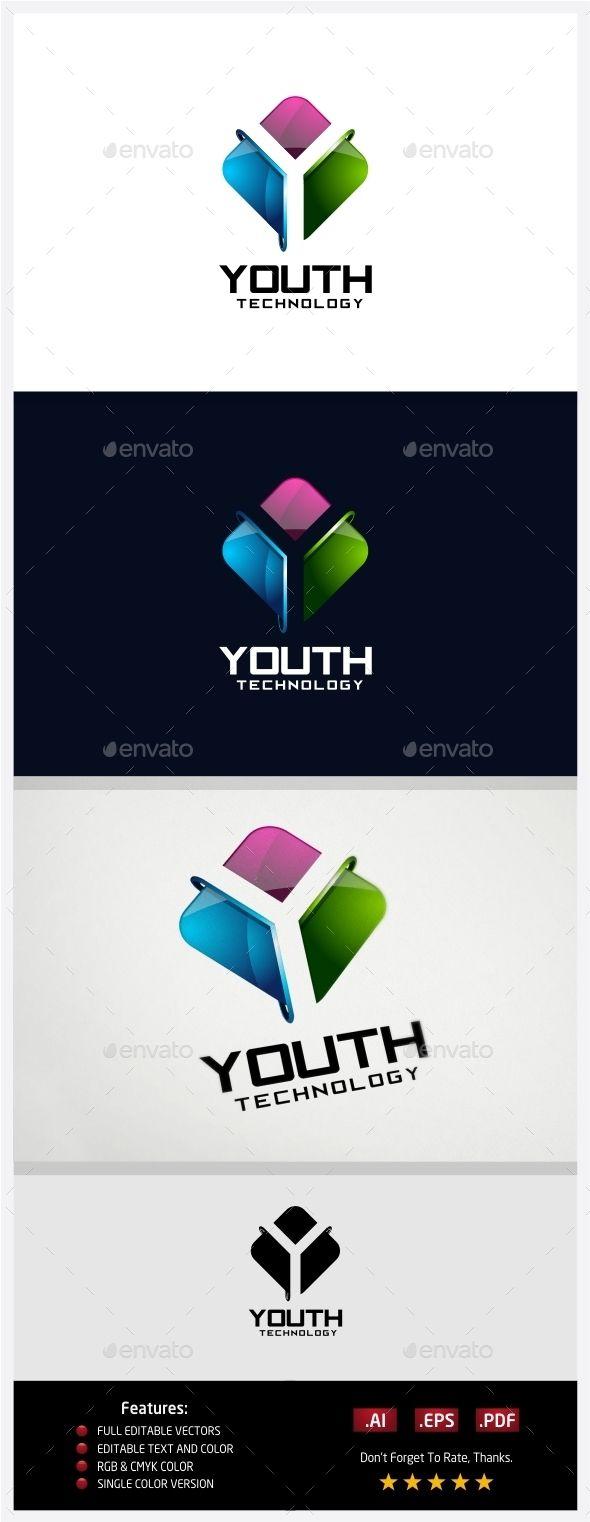 Youth Technology Logo Technology Logo Logo Design Template Abstract Logo