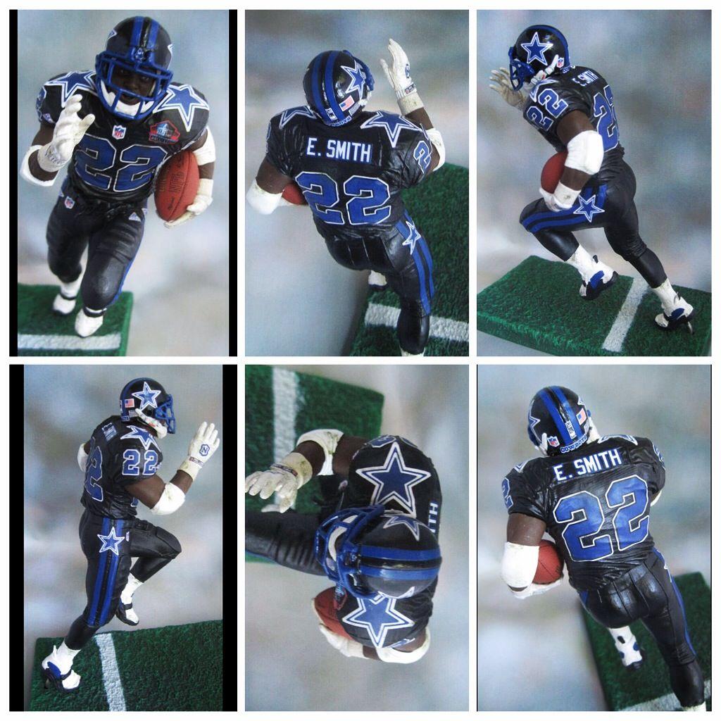 60427a7b542 Emmitt Smith Dallas Cowboys blackout | Custom Sports Figures ...