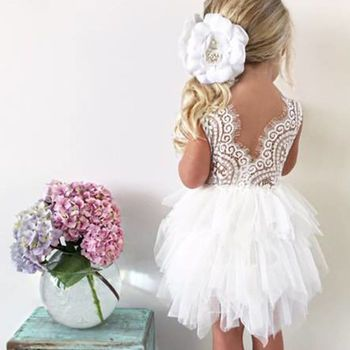 e91fb4fa0 Aria ~ Party Dress White | Apricot | Off White | Lilac Baby Flower Girl  Dresses