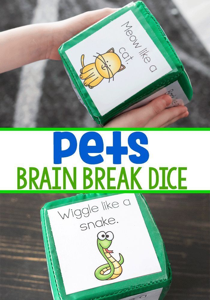 Get the wiggles out Get the wiggles out with this petthemed brain break dice This perfect printable is great for preK and kindergarten gross motor activities Play with yo...