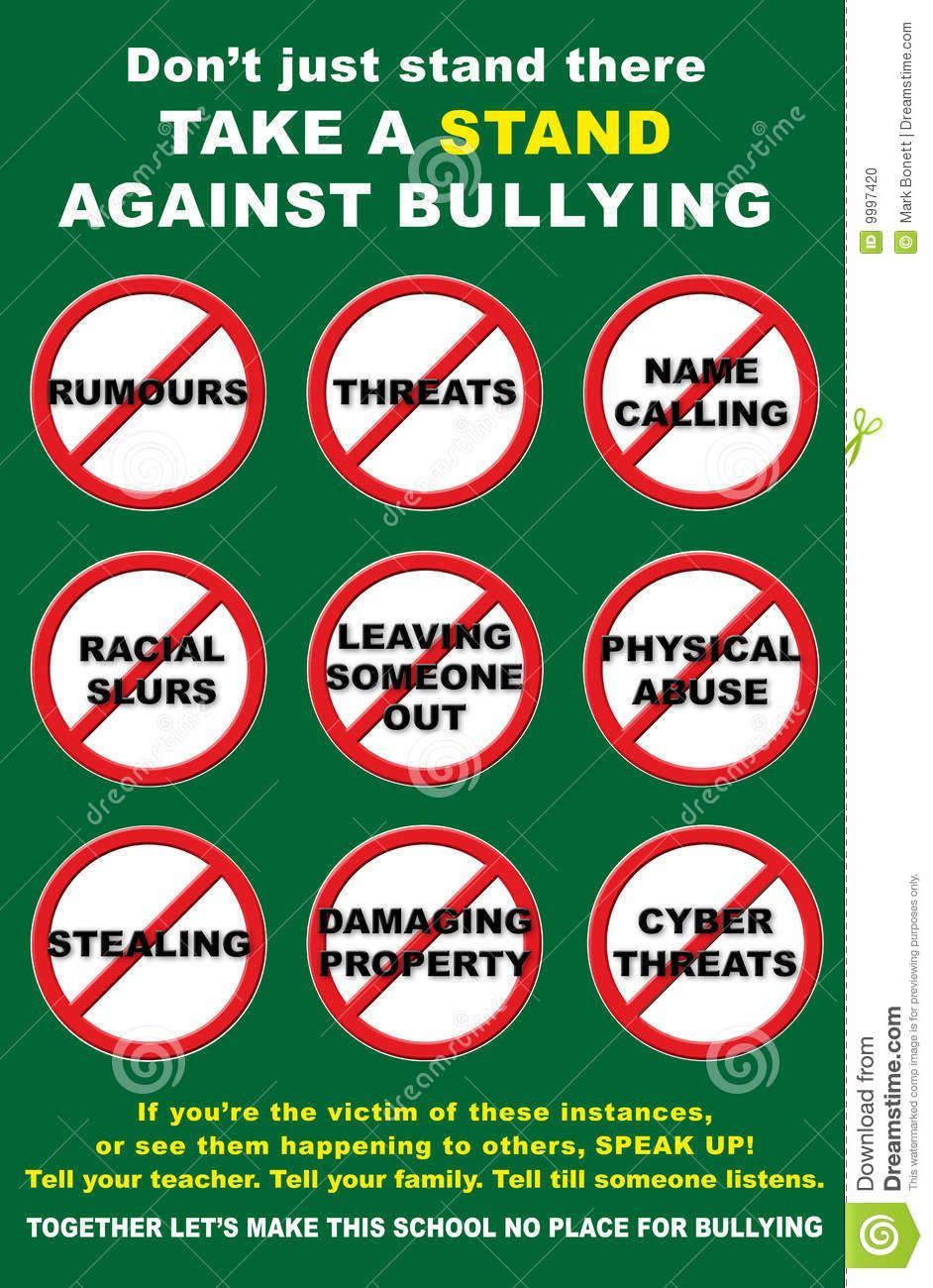 Anti Bullying Poster - Download From Over 55 Million High ...