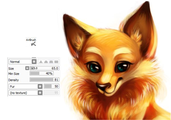 Making the fur with the fur brush | Digital Art Tutorials in