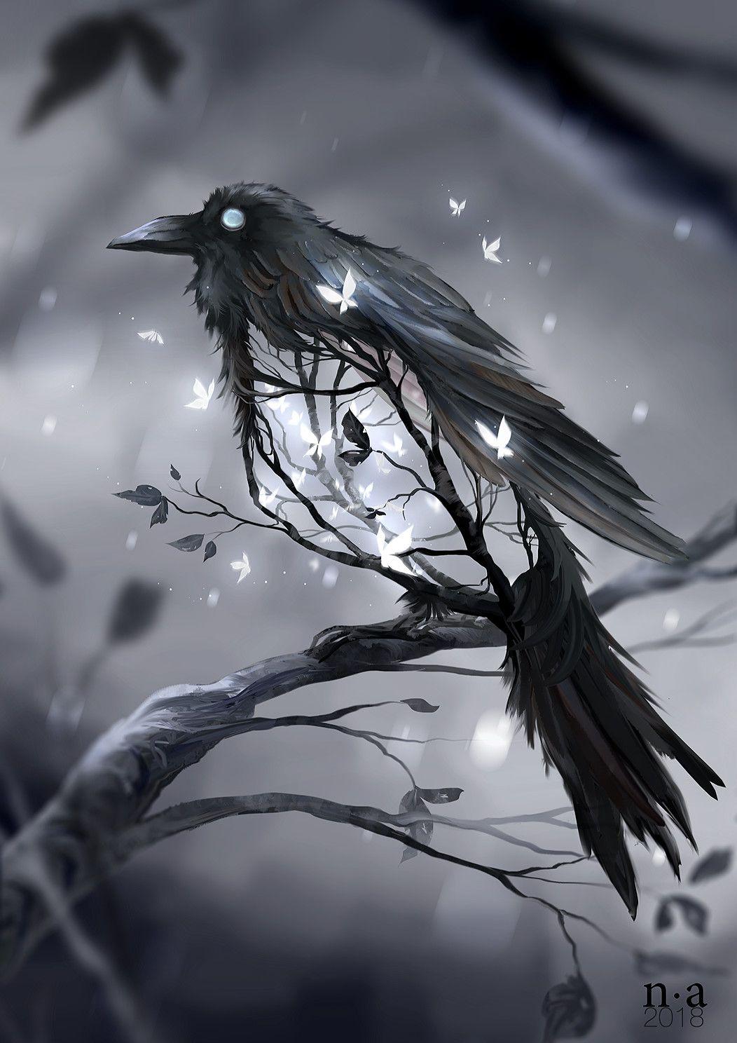 обученная картинки загадочных птиц освещенности ночью создает