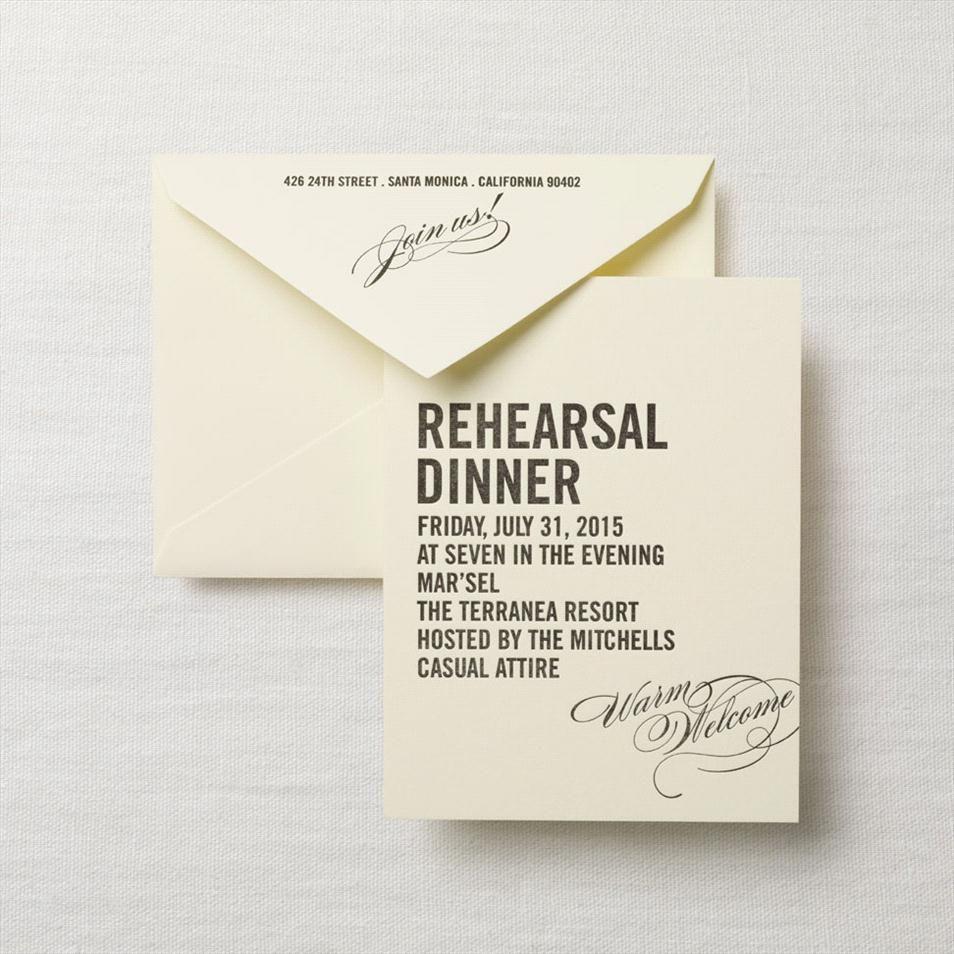 Wedding Rehearsal Invitations Etiquette