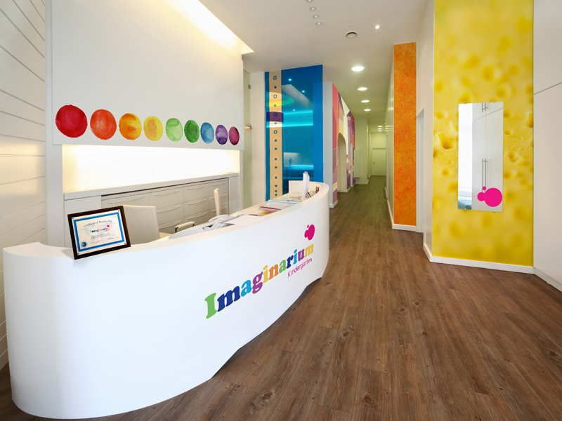 Picture of reception area design of preschools with modern style