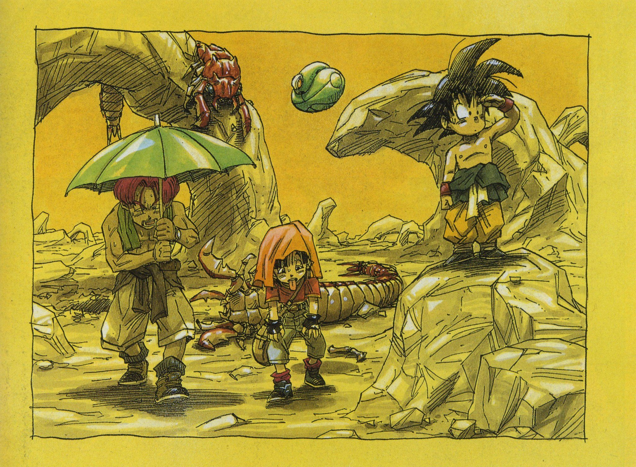 Kahra (Rudeeze) Dragon ball gt, Illustration