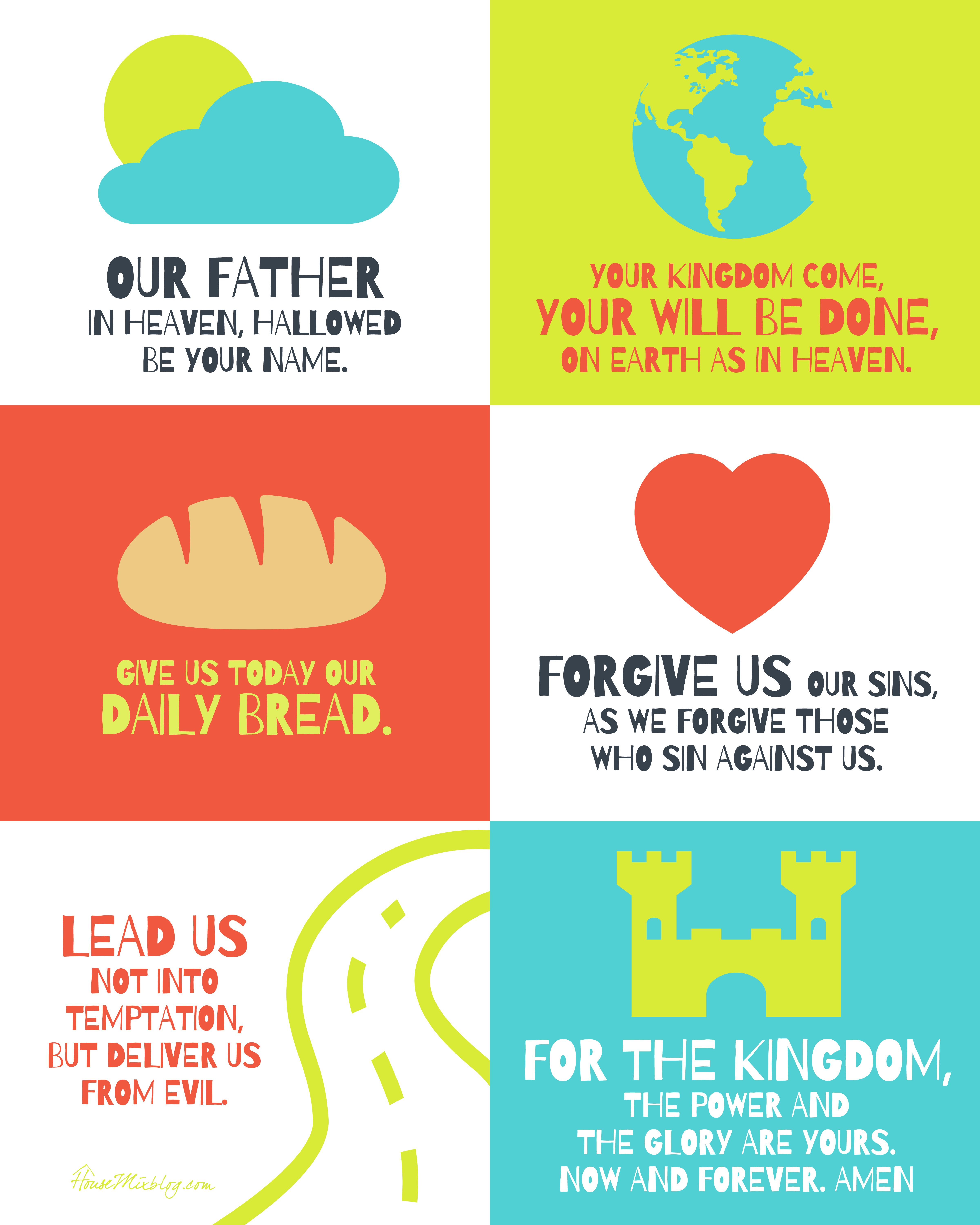The Lord S Prayer Poster For Kids
