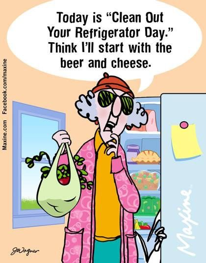 Clean Out Refrigerator Day | Maxine, Funny cartoons, Humor