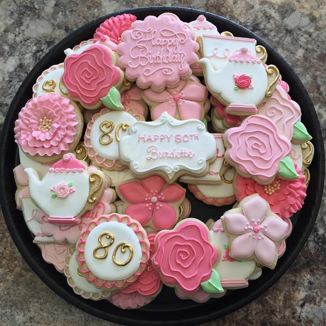 80th Birthday Cookies For Sweet Burdette! In 2019