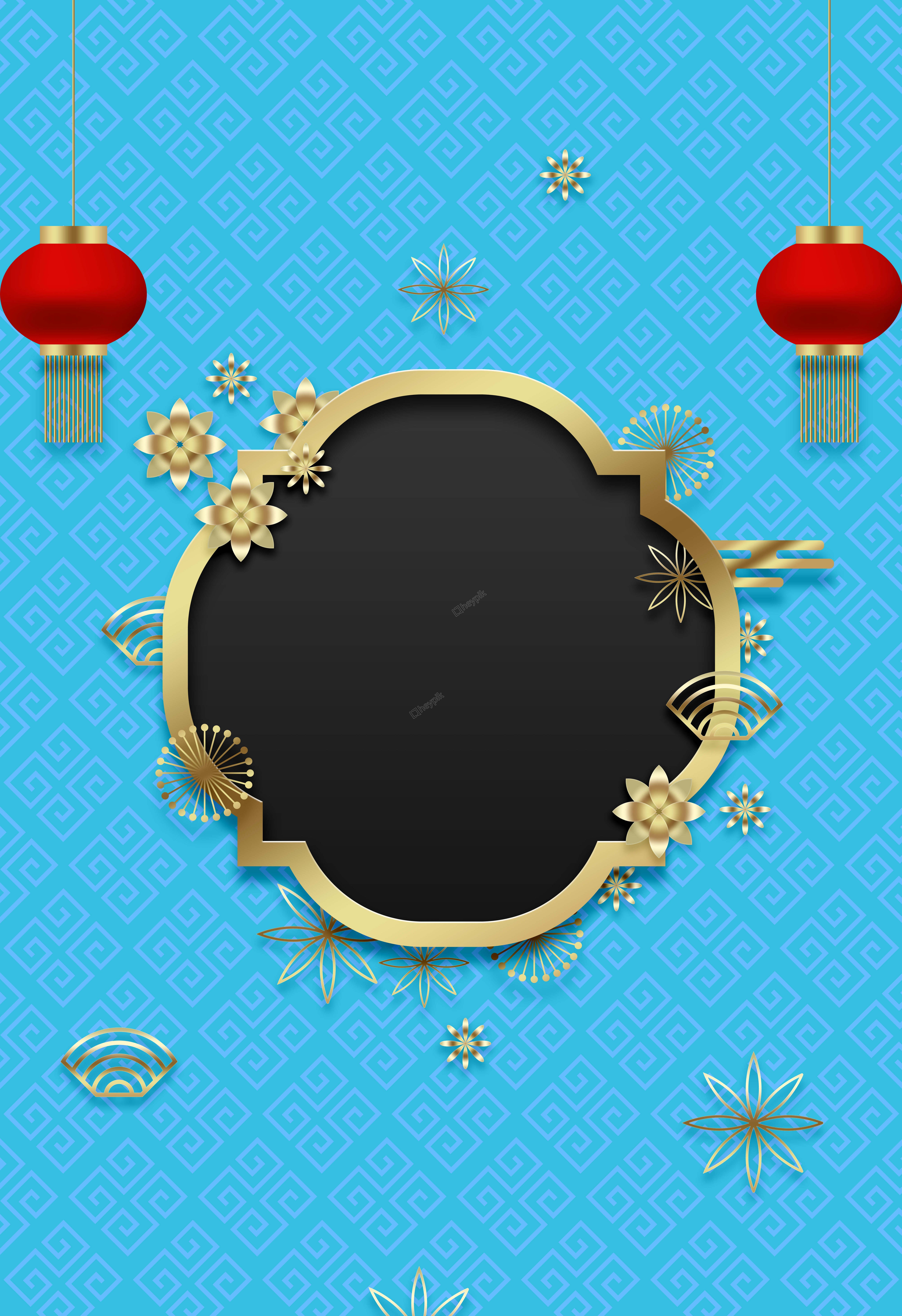 New Creative Chinese Style Happy New Year Flat Vector