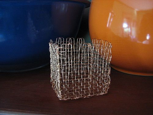 weaving with metal thread