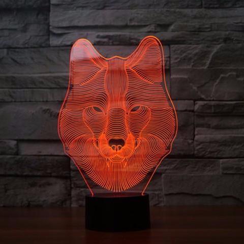 Wolf 3d Illusion Lamp 3d Illusion Lamp 3d Illusions Led Night Lamp