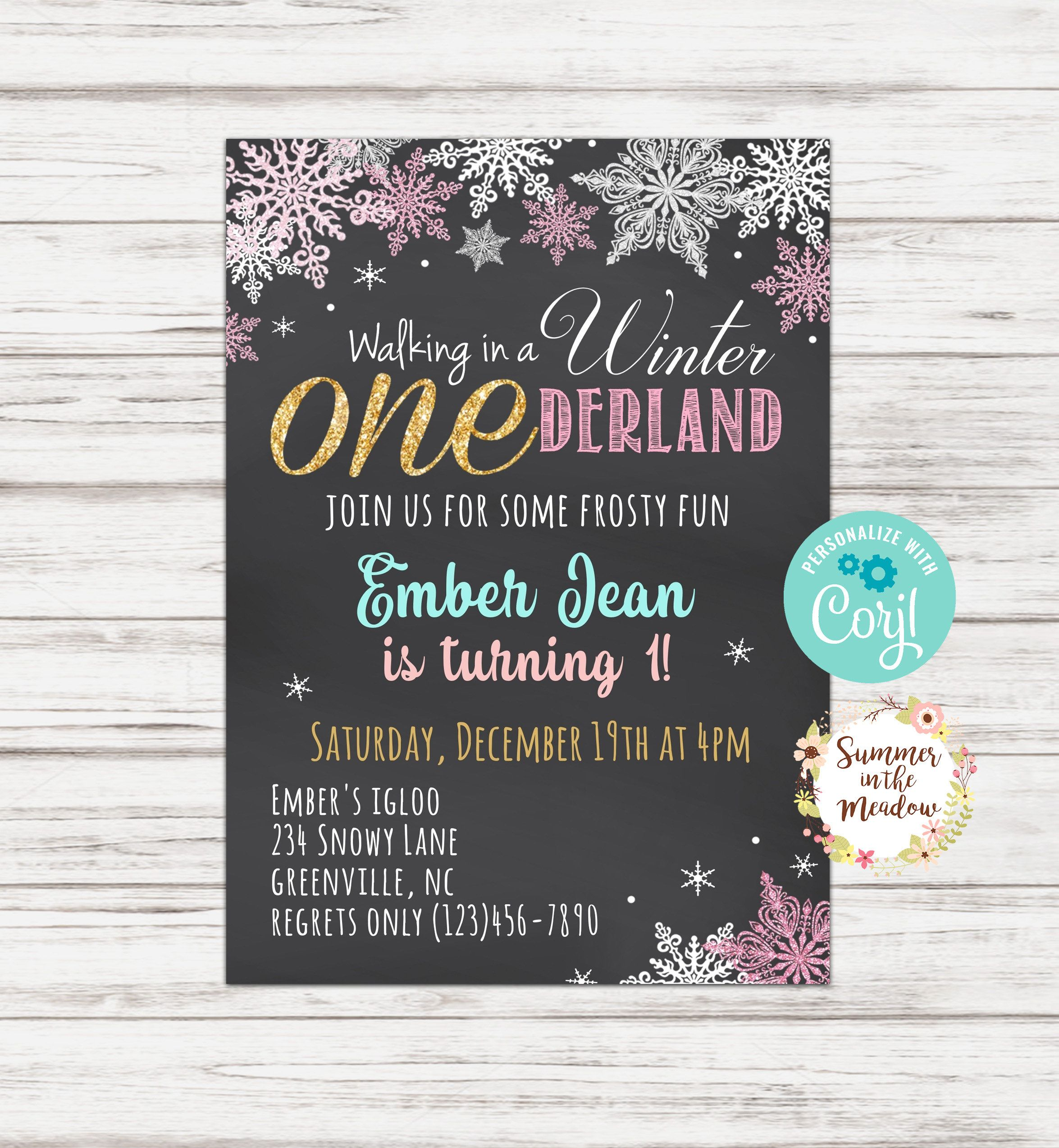 Onederland Birthday Party Invitation Winter Onederland Party Etsy In 2020 Birthday Party Invitations Onederland Birthday Party Onederland Birthday