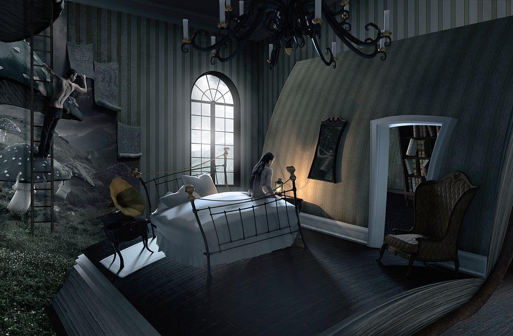 Gothic Schlafzimmer ~ Schlafzimmer von viaframe digital art manipulation pinterest