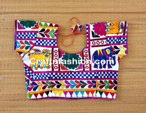 Latest Fashion Cotton Silk Embroidered Saree Blouse-Indian ...