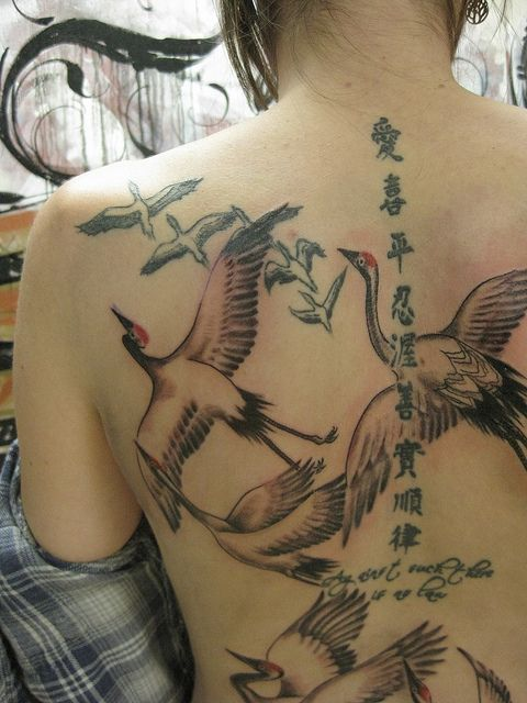 Japanese Crane Tattoo Crane Tattoo Japanese Tattoo Tattoos
