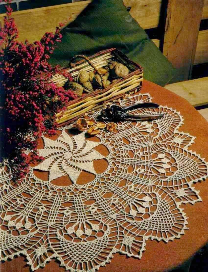 Carpeta tejida al crochet - con diagramas y patrones | My Favorite ...