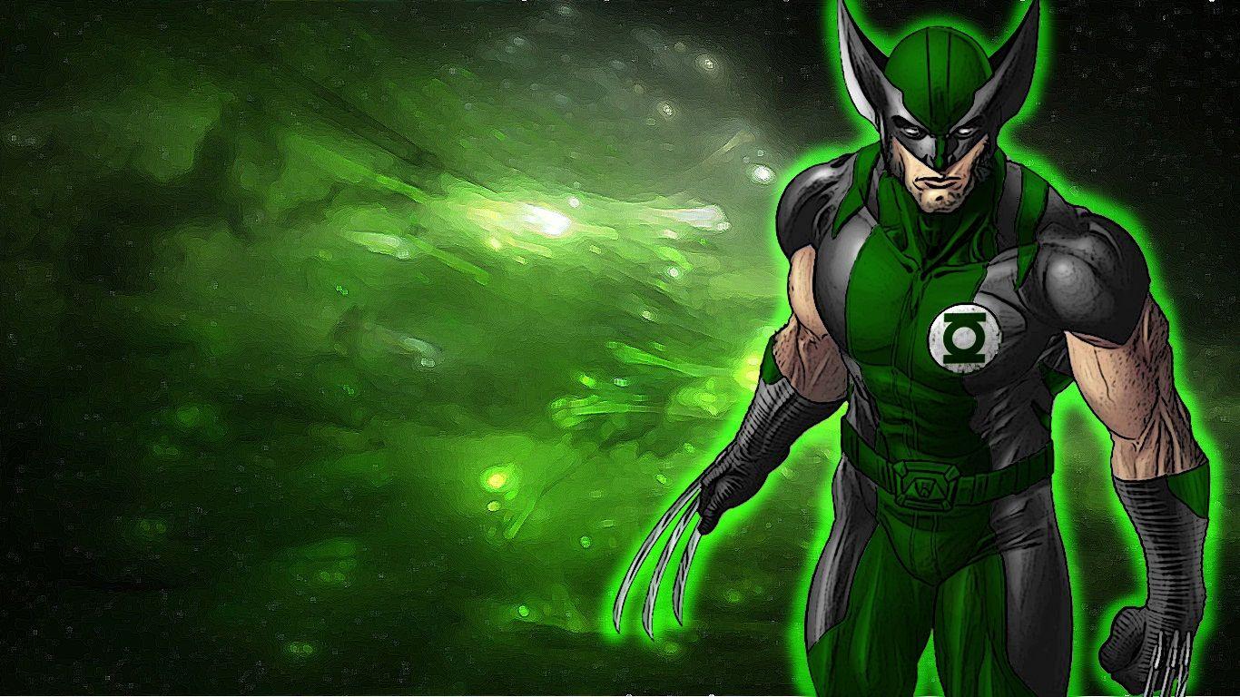 Green Lantern Art   Green Lantern Wolverine by 666Darks