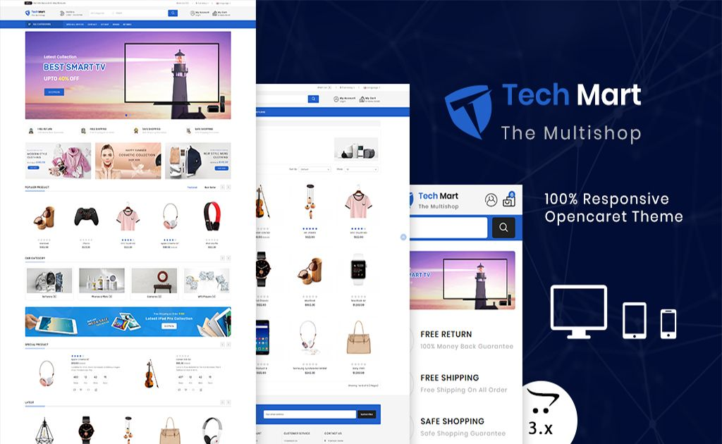 Techmart The Shopping Mall Opencart Template Opencart Template 74830 Opencart Templates Business Website Design Templates Opencart