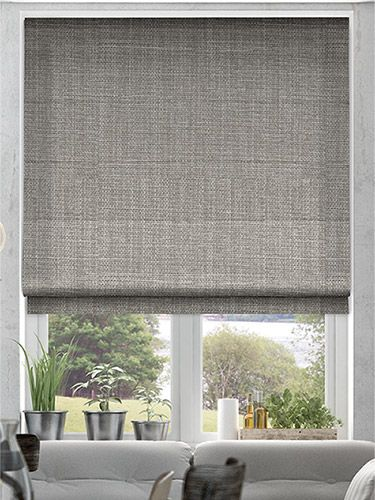 Cavendish Mid Grey Roman Blind Living Room Blinds Roman