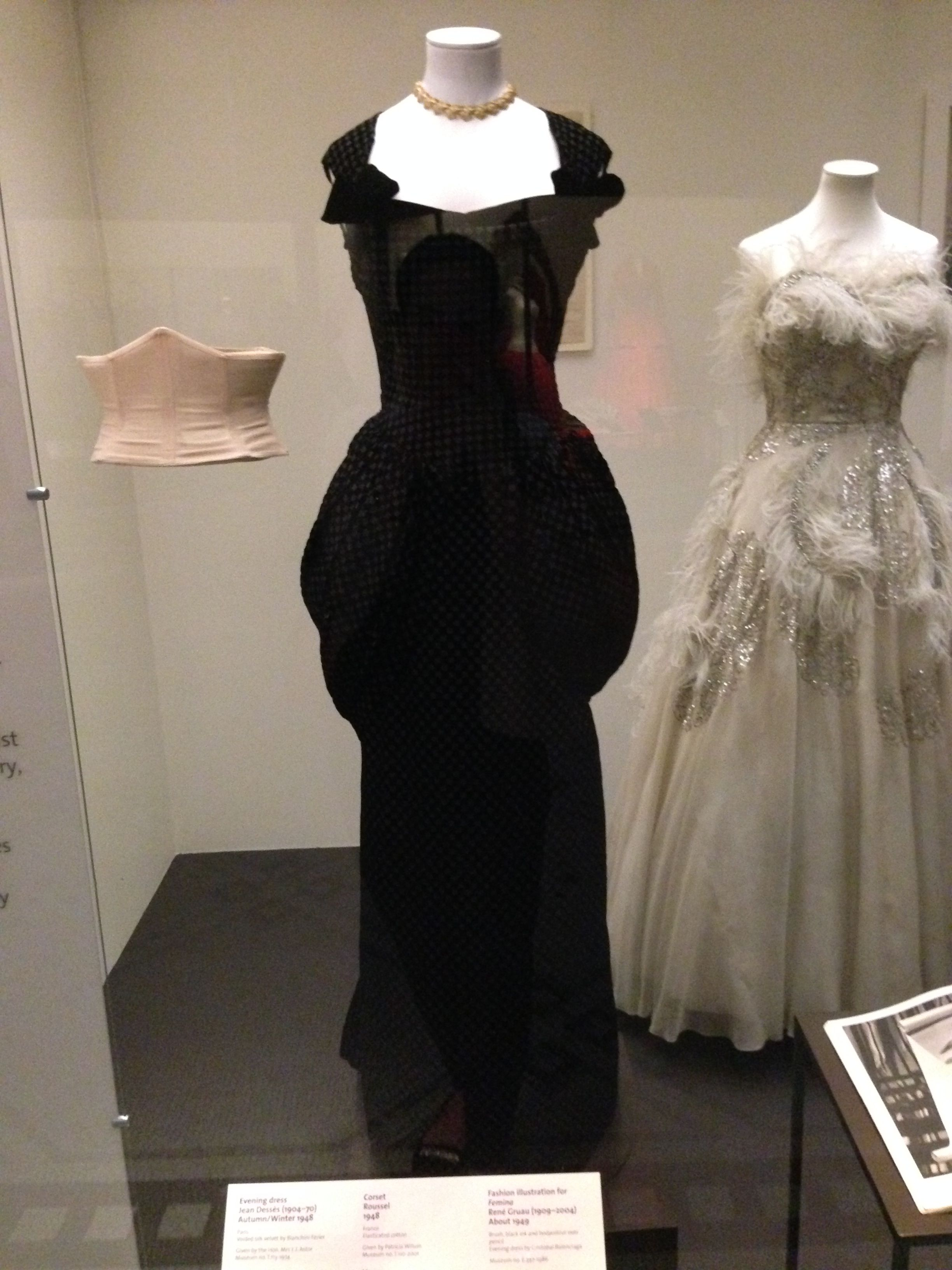 Evening dress jean dessès autumnwinter vua museum us