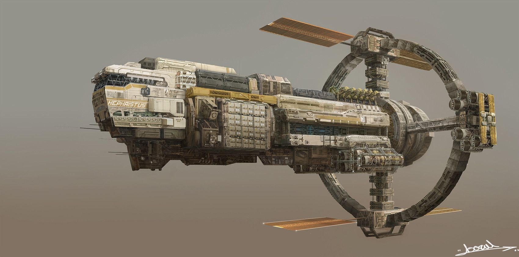 Artstation Space Mining Cargo Ship Subin Kim Starship Concept Spaceship Design Starship Design