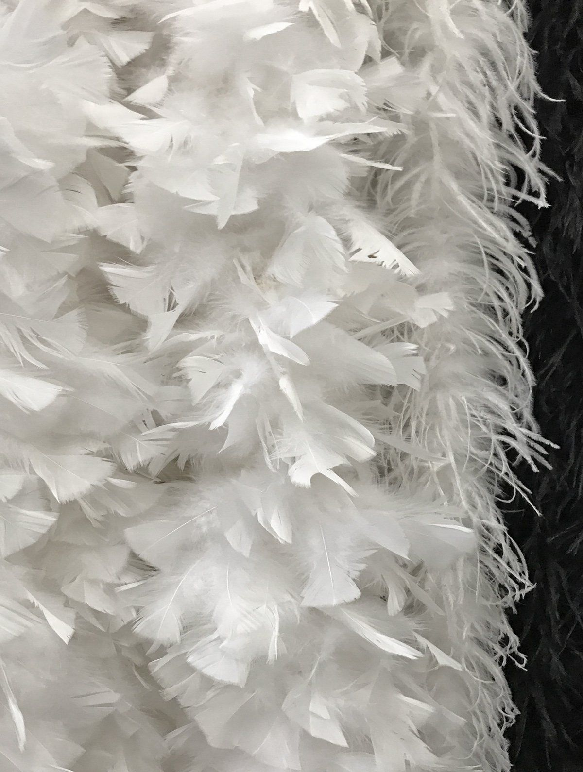 Moonlight Feather 72 Inches 2 Yards White 3 Ply Ostrich Feather Fluffy Boa Wedding Dress Costume Cosplay Fas Wedding Dress Costume Ostrich Feathers Feather