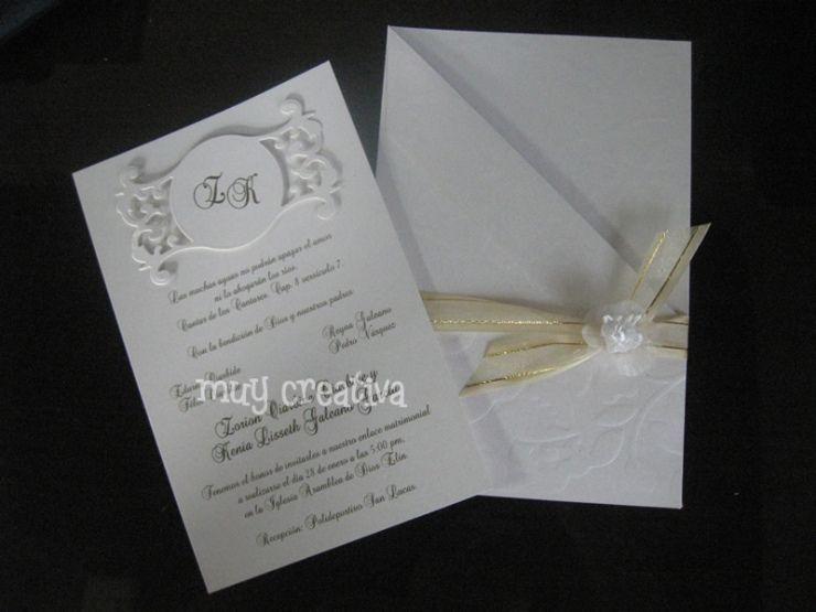 Invitaciones para boda manualidades y dise os de muy - Como hacer tarjetas de boda ...