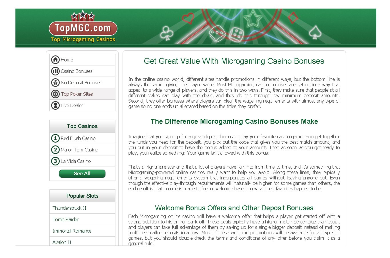 microgaming casinos 2014